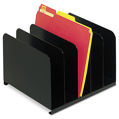 Steelmaster Vertical Organizer - SteelMaster Desktop Vertical Organizer Five Sections Steel 12 x 11 x 8 1/8 Black