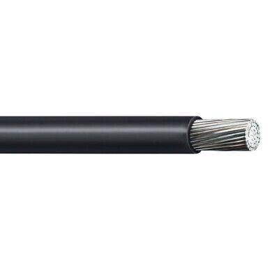 1000 4 Awg Aluminum Xlp Use-2 Rhh Rhw-2 Wire Black 600v
