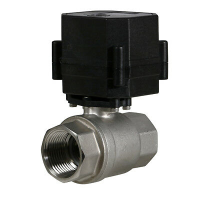 1 Stainless Steel Motorized Electric Ball Valve 9v 12v-24 Volt Acdc 2 Wire