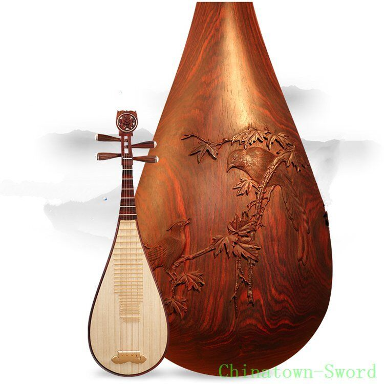 Dalbergia Rosewood XingHai Brand Chinese Soprano Pipa Lute Guitar LiuQin #4137