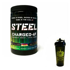 Steel Supplements CHARGED AF Pre Workout Candy Bliss + Fitking Shaker - COMBO