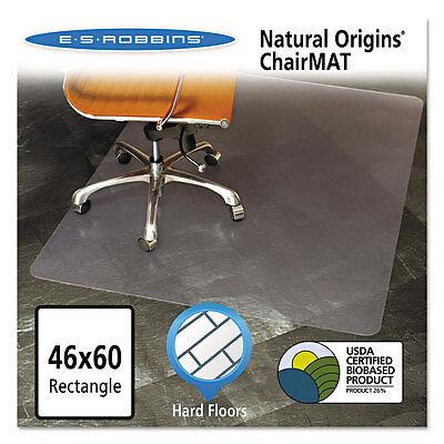 Es Robbins Natural Origins Chair Mat For Hard Floors 46 X 60 Clear 143022