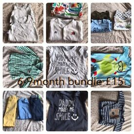 6-9 months baby boy bundle