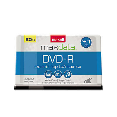 Maxell DVD-R Discs 4.7GB 16x Spindle Gold 50/Pack 638011