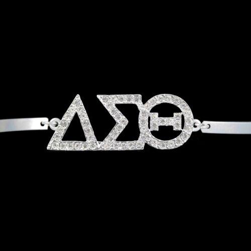Delta Sigma Theta Sorority Bracelet-Silver-New!