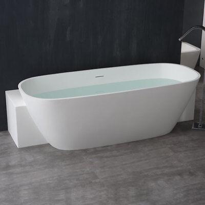 StoneArt Badewanne freistehend BS-529 weiß/185x81/matt (Stone Freistehende Badewanne)
