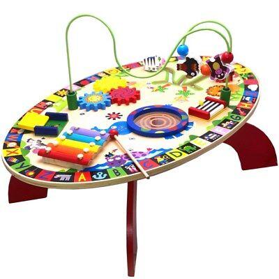 schMotorikschleife Xylophon Spielcenter Lerntisch aus Holz (Holz-spiel-tisch)