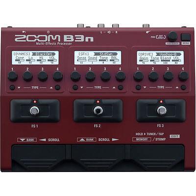 New Zoom B3n Bass Multi-effects Processor Auth Dealer Warranty Best (Best Bass Guitar Effects Pedals)
