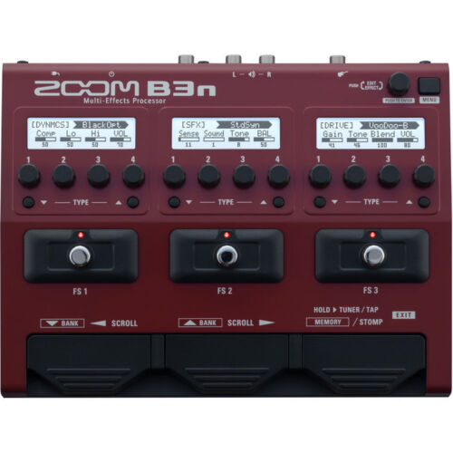 New Zoom B3n Bass Multi-effects Processor Auth Dealer Warranty Best Offer!