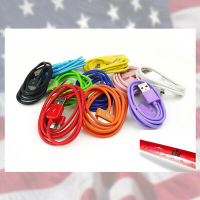 10-COLOR 6FT USB 30 PIN CABLES DATA SYNC POWER CHARGER SAMSUNG GALAXY TAB TABLET for sale  Shipping to India