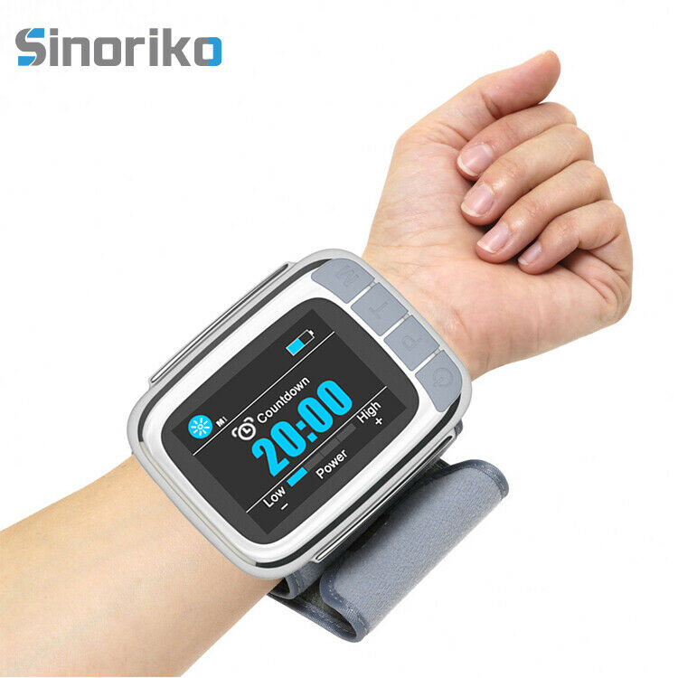 808nm Pain Relief Therapy High Blood Pressure Blood Cleaner Laser Medical Watch 8