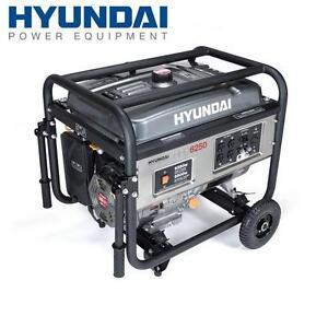 NEW HYUNDAI PORTABLE GENERATOR 6250 Watt 4-Stroke Portable Heavy Duty Generator 105756184