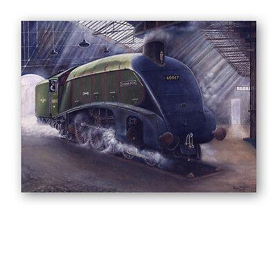 Train Father's Day Card Silver Fox Steam Train (Ref eb337) 1st Class p&p