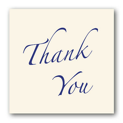 Thank You Card sparkly cream board (Ref eb331) £2.32 incl. Free 1st Class p&p
