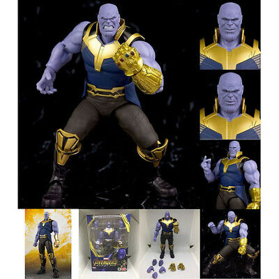 """S.H.Figuarts SHF Marvel Avengers Infinity War Thanos Action Figure Toy 6"""" Boxed"""