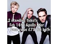 Busted Concert Tickets Manchester February 2017
