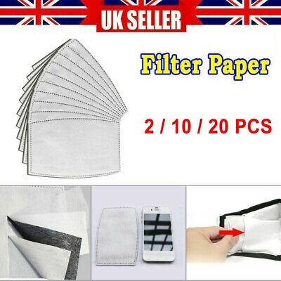 2/10/20PCS Filter Paper Anti Dust Anti Haze Activated Carbon Breathing Filters