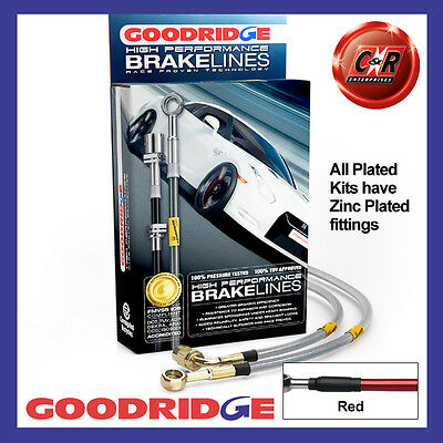 Triumph Herald Drums All Round Goodridge Zinc Red Brake Hoses STH0101 4P RD
