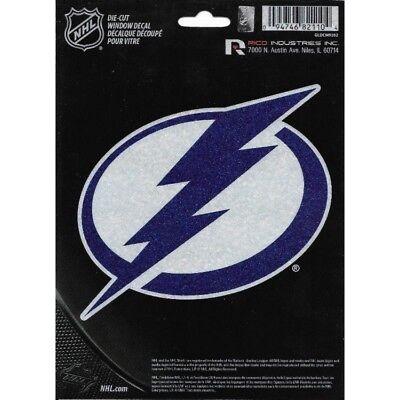 tampa bay lightning nhl ice hockey logo glitter die cut vinyl decal usa made