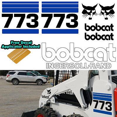 Bobcat 773 V2 Skid Steer Set Vinyl Decal Sticker Bob Cat Made In Usa Free Tool