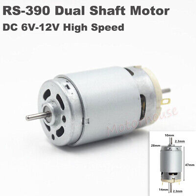 Micro Rs-390 Electric Motor Dc 6v 12v High Speed Large Torque Dual 2.3mm Shaft