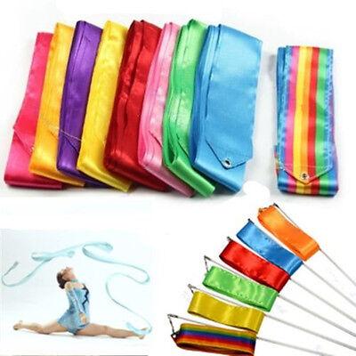 4M Dance Ribbon Gym Rhythmic Art Gymnastic Ballet Streamer Twirling Rod 8COLORS - Dance Ribbon