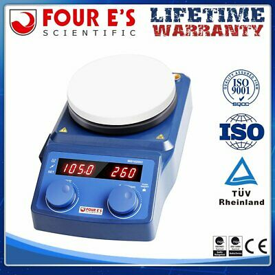 Magnetic Hot Plate Heating Stirrer Mixer 5 Inch Led Digital Lab Stand Wceramic