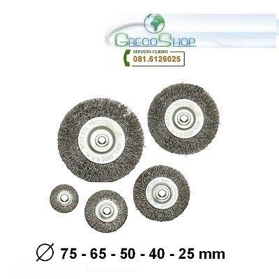 Spazzole/Spazzola circolare abrasive in acciaio gambo 6mm per trapano 7 pezzi