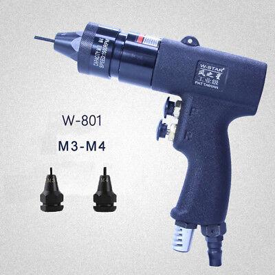M3m4 Pneumatic Riveter Pull Setter Self Locking Air Rivet Nut Gun 1500rpm Tool