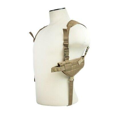 NcStar CV2909T TAN Ambidextrous Pistol Shoulder Holster w/Double Magazine Holder Shoulder Pistol Holsters