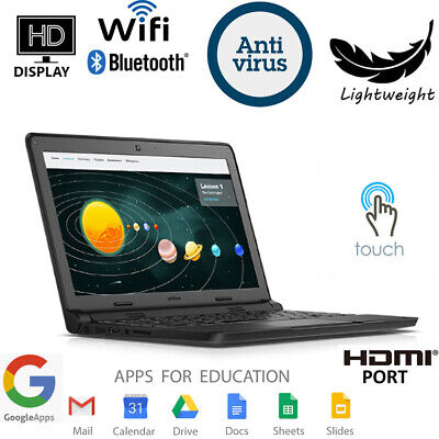 Dell Chromebook 11 TOUCHSCREEN Students Laptop Computer Dual Core SSD WiFi HDMI