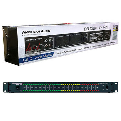 American Audio DB Display mkII LED db Decibel Level Display Monitoring DBD567