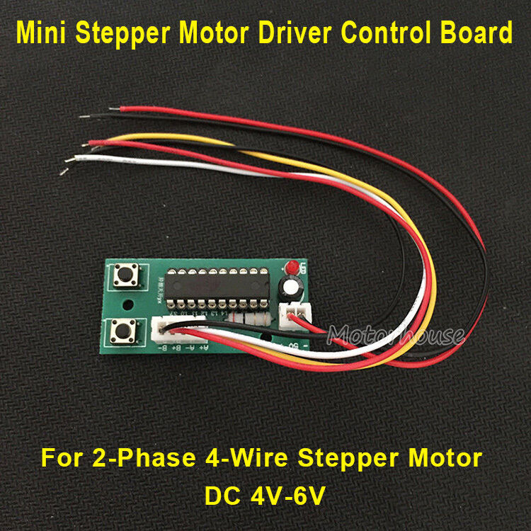DC4V-6V 5V 2-Phase 4-Wire Micro Stepper Motor Driver Board LED CCW CW Controller
