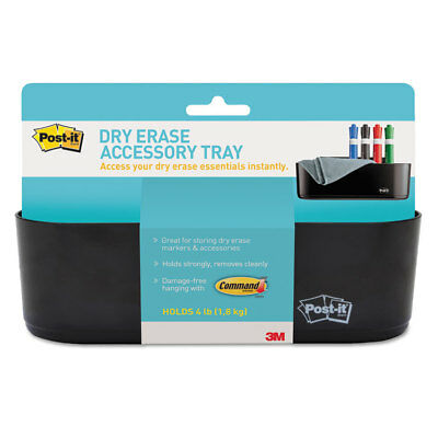 Post-it Dry Erase Accessory Tray 8 12 X 3 X 5 14 Black Deftray