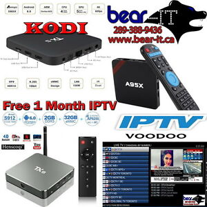 FREE 1 month IPTV w/purchase Android TV Box & wireless Keyboard