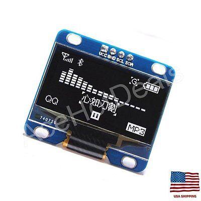 0.96 I2c Iic Serial 128x64 Led Oled Lcd Display Module For Arduino White