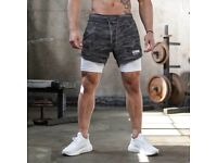 EMKE Combat Sports Shorts. Phone Holder and Towel Loop, Extreme Quality FREE UK POSTAGE