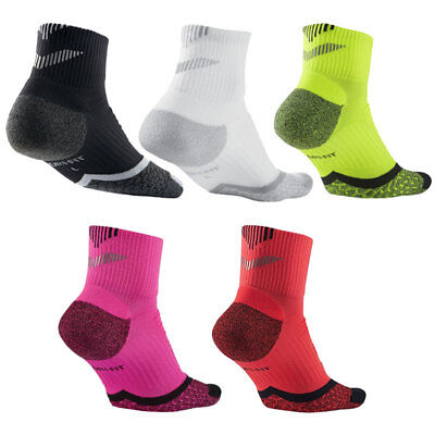 Nike Elite Cushioned Running Training Gym Socks - DRI-FIT Unisex Quarter