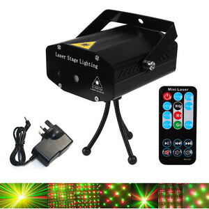 projecteur led laser mini dj disco effet lumineux rotatif laser light tape r g ebay. Black Bedroom Furniture Sets. Home Design Ideas
