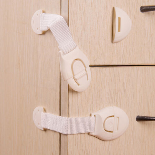 2pcs child safe cabinet door fridge drawer cupboard catch lock latch best jyl ebay. Black Bedroom Furniture Sets. Home Design Ideas