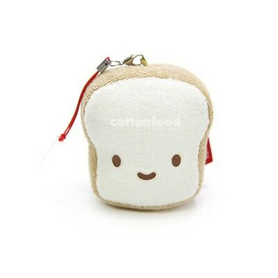 Cotton Food Anti Dust Plug Plush Cellphone Charm - Bread