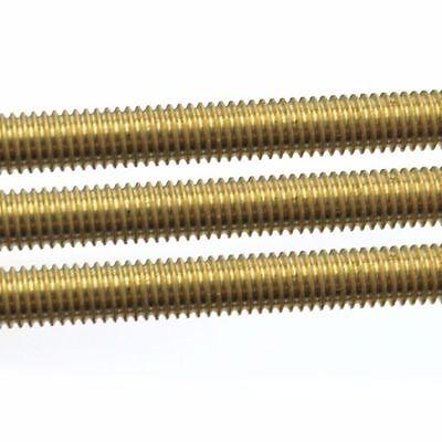 1X Brass Threaded Rod Brass Screw Rod Full-Threaded M2 2.5 3 4 5 6 8 10 12 14 16