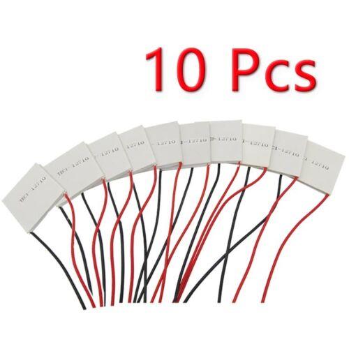 10pcs TEC1-12710 Heatsink Thermoelectric Cooler Cooling Peltier Plate Module NEW