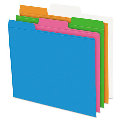 Pendaflex Glow Poly File Folders 13 Cut Top Tab Letter Assorted Colors 12pack