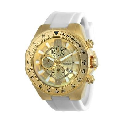 Invicta Aviator 24578 Men's White Silicone Gold-Tone Chronograph Watch