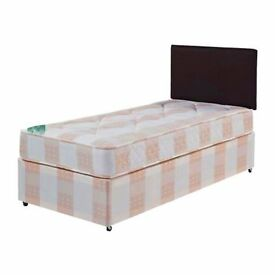 AMAZING OFFER'' -- Single Divan Bed -- Memory Foam/Orthopaedic/Deep Quilt Mattress -- Brand New