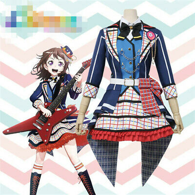 2019 BanG Dream Cosplay Costume 7th-LIVE Poppin'Party Toyama Kasumi Lolita - Kasumi Cosplay Kostüm