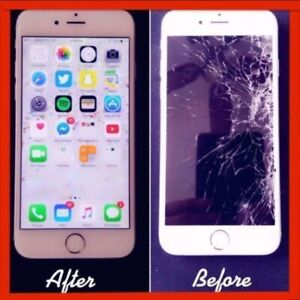 Repair Broken/Crack iPhone 5/5C/5S/6/6+/6s/6s+/7/7+/8+ LCD- $35