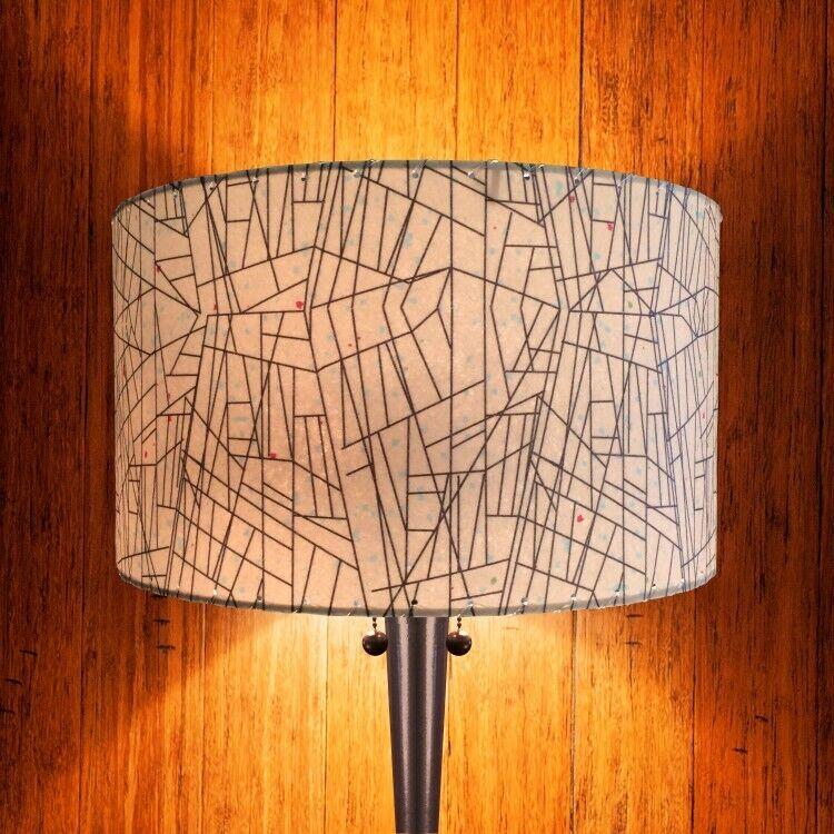 Mid Century Vintage Style Fiberglass Lamp Shade Ivory