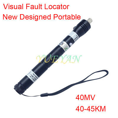 40mw 4045km Handheld Visual Fault Locator Vfl Red Light Fiber Optic Cable Test
